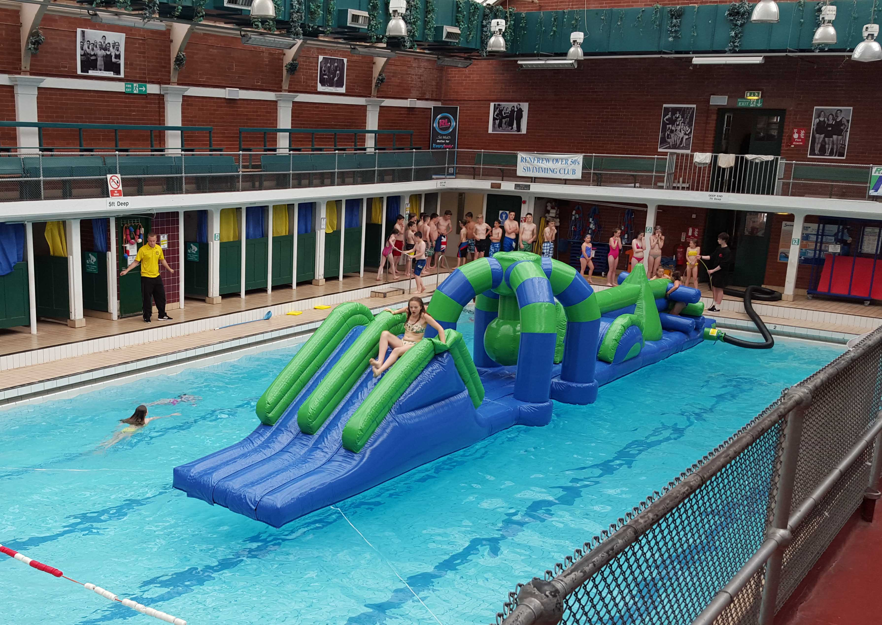 Inflatable fun session for Swimming pool fermoy timetable