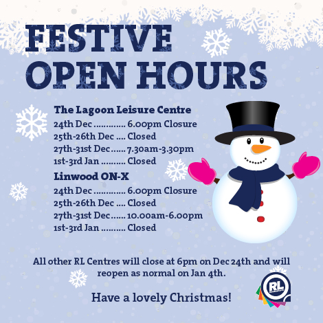 Fitness festive open hours for gyms and pools - Linwood swimming pool opening times ...